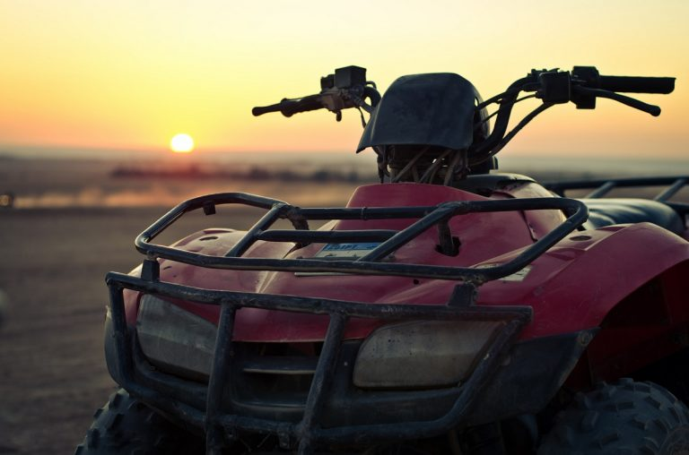 Quad bike photo during sunset