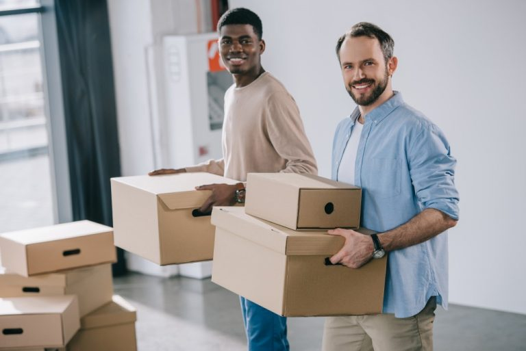 men carrying boxes