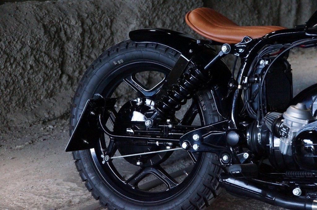 back of bobber motorcycle