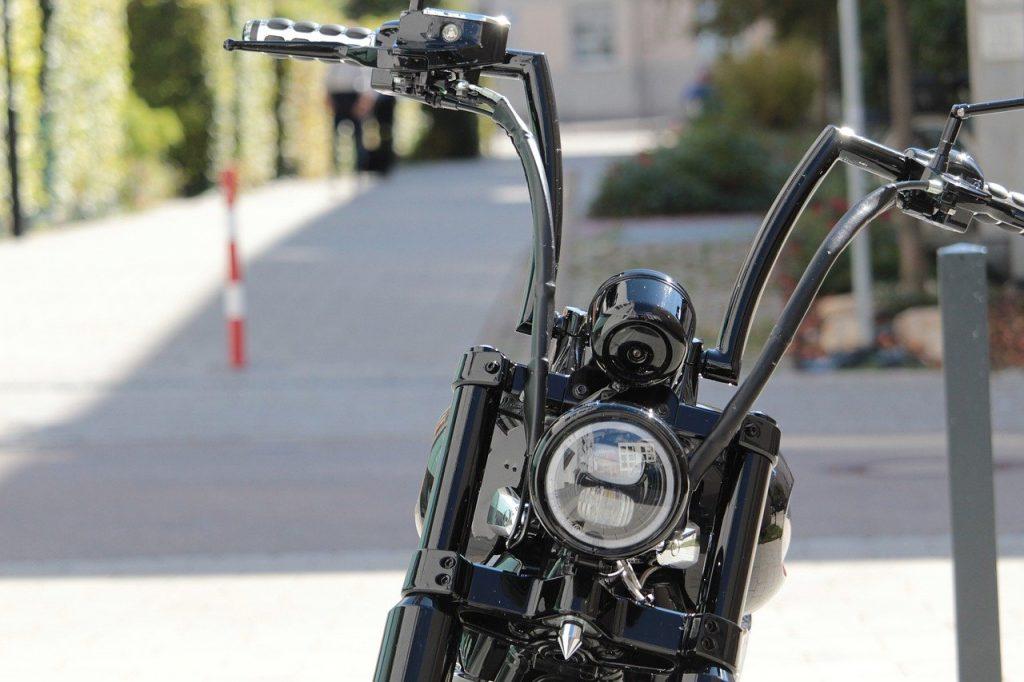 handlebars of motorcycle