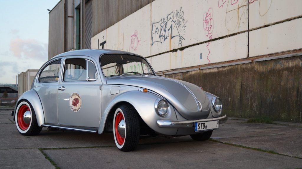 shiny silver beetle